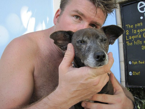 richard-sibbald-and-pepe-the-dog-with-arcus-iris_8259711541_o